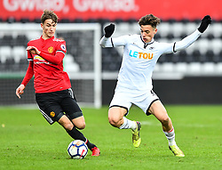 Cian Harries of Swansea City in action - Mandatory by-line: Craig Thomas/Replay images - 18/03/2018 - FOOTBALL - Liberty Stadium - Swansea, England - Swansea City U23 v Manchester United U23 - Premier League 2 - Divison 1