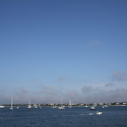 Sailing boats off the coastline of Nantucket Island, Massachusetts, USA. Photo Tim Clayton