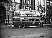 04/11/1954<br /> 11/04/1954<br /> 04 November 1954<br /> Kellogg's breakfast cereal advertisement on bus in Dublin