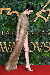 Kendall Jenner attending the Fashion Awards in association with Swarovski held at the Royal Albert Hall, Kensington Gore, London