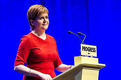 Pictured: Nicola Sturgeon First Minister<br /> The members of the SNP gathered in the Scottish Events Centre in Glasgow for their annual conference.<br /> <br /> The Ger Harley | EEm 10 October 2017