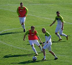 Zlatko Dedic vs Miso Brecko of Slovenia during a training session at  Hyde Park High School Stadium on June 9, 2010 in Johannesburg, South Africa.  (Photo by Vid Ponikvar / Sportida)