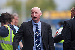 Dundee's  manager John Brown at the end.<br /> Falkirk 3 v 1 Dundee, 21/9/2013.<br /> ©Michael Schofield.
