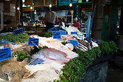 Fishmongers at Borough Market in London, England, United Kingdom. Borough Market is a retail food market and farmers market in Southwark. It is one of the largest and oldest food markets in London, with a market on the site dating back to at least the 12th century. A farmers market is a physical retail marketplace intended to sell foods directly by farmers to consumers. Farmers markets may be indoors or outdoors and typically consist of booths, tables or stands where farmers sell fruits, vegetables, meats, cheeses, and sometimes prepared foods and beverages.