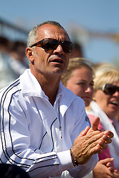 Martin Vilar, coach of Polona Hercog of Slovenia during the second day of the tennis Fed Cup match between Slovenia and Canada at Bonifika, on April 17, 2011 in Koper, Slovenia.  (Photo by Vid Ponikvar / Sportida)