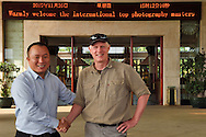 Staffan Widstrand with the hotel director at Hot spring resort in Xu Wen, Guangdong province, China