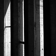 FIrminy-Vert, France, Rodano, 2016: Maison de la Culture, façade est ( interior detail) at Boulevard Périphérique du Stade - Le Corbusier arch - Visit Shop Images to purchase and download a digital file and explore other AS images archive. Photographs by Alejandro Sala