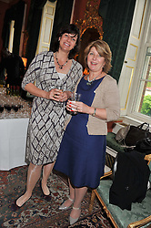 Left to right, CLARE PERRY MP and SUE PEART at a reception for Women in Media hosted by the Prime Minister David Cameron at 10 Downing Street, London on16th May 2013.