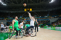 20160910 Copyright onEdition 2016©<br /> Free for editorial use image, please credit: onEdition<br /> <br /> Wheelchair Basketball player (Men) Terry Bywater from Redcar, Middlesborough, competing for ParalympicsGB at the Rio Paralympic Games 2016.<br />  <br /> ParalympicsGB is the name for the Great Britain and Northern Ireland Paralympic Team that competes at the summer and winter Paralympic Games. The Team is selected and managed by the British Paralympic Association, in conjunction with the national governing bodies, and is made up of the best sportsmen and women who compete in the 22 summer and 4 winter sports on the Paralympic Programme.<br /> <br /> For additional Images please visit: http://www.w-w-i.com/paralympicsgb_2016/<br /> <br /> For more information please contact the press office via press@paralympics.org.uk or on +44 (0) 7717 587 055<br /> <br /> If you require a higher resolution image or you have any other onEdition photographic enquiries, please contact onEdition on 0845 900 2 900 or email info@onEdition.com<br /> This image is copyright onEdition 2016©.<br /> <br /> This image has been supplied by onEdition and must be credited onEdition. The author is asserting his full Moral rights in relation to the publication of this image. Rights for onward transmission of any image or file is not granted or implied. Changing or deleting Copyright information is illegal as specified in the Copyright, Design and Patents Act 1988. If you are in any way unsure of your right to publish this image please contact onEdition on 0845 900 2 900 or email info@onEdition.com