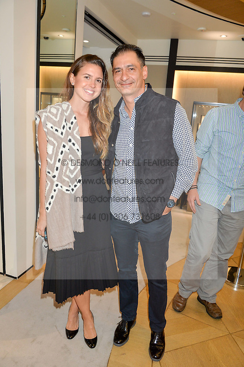 BEN SOLEIMANI and JEMENA LOZA at the Jaeger-LeCoultre Gold Cup draw 2016 held at Jaeger-LeCoultre, Bond Street, London on 6th June 2016.