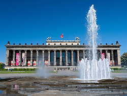 Exterior view of Altes Museum on Museum Island or Museumsinsel in Mitte district Berlin Germany