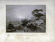 Pass in a Cedar forest above Barouk [Lebanon] From Syria, the Holy Land, Asia Minor, etc. : by  Carne, John, 1789-1844; Bartlett, W. H. (William Henry), 1809-1854; Purser, William Publisher: London, Fisher [1839-40]