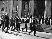 22/04/1962<br /> 04/22/1962<br /> 22 April 1962<br /> Easter Sunday Military Parade in Dublin<br /> President Eamon de Valera takes the salute at the G.P.O. Dublin during the Military Parade on Easter Sunday, 1962.
