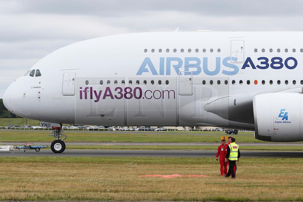 Airbus A380, Farnborough International Airshow, London Farnborough Airport UK, 15 July 2016, Photo by Richard Goldschmidt