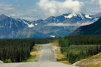 Alaskan Highway nearing Kluane National Park Yukon Canada