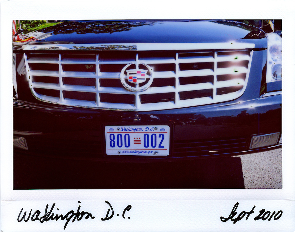 The grill of U.S.  President Barack Obama's limousine is seen at the White House in Washington, September 13, 2010.