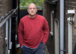 © Licensed to London News Pictures. 04/05/2021. London, UK. DOMINIC CUMMINGS is seen outside his London home. Cummings, a Former chief adviser at 10 Downing Street, has made a series of allegations about the conduct of British Prime Minister Boris Johnson. Photo credit: Ben Cawthra/LNP
