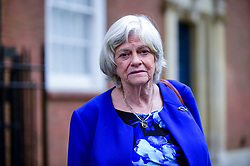 © Licensed to London News Pictures. 24/04/2019. LONDON, UK.  Ann Widdecombe, former Conservative MP, attends a photocall for the Brexit Party at outside Europe House (the European Commission office) in Smith Square, Westminster.  Ann Widdecombe has announced that, while she will vote Conservative in local elections, she will stand as a candidate for Nigel Farage's Brexit party in the upcoming European elections on 23 May 2019. Photo credit: Stephen Chung/LNP