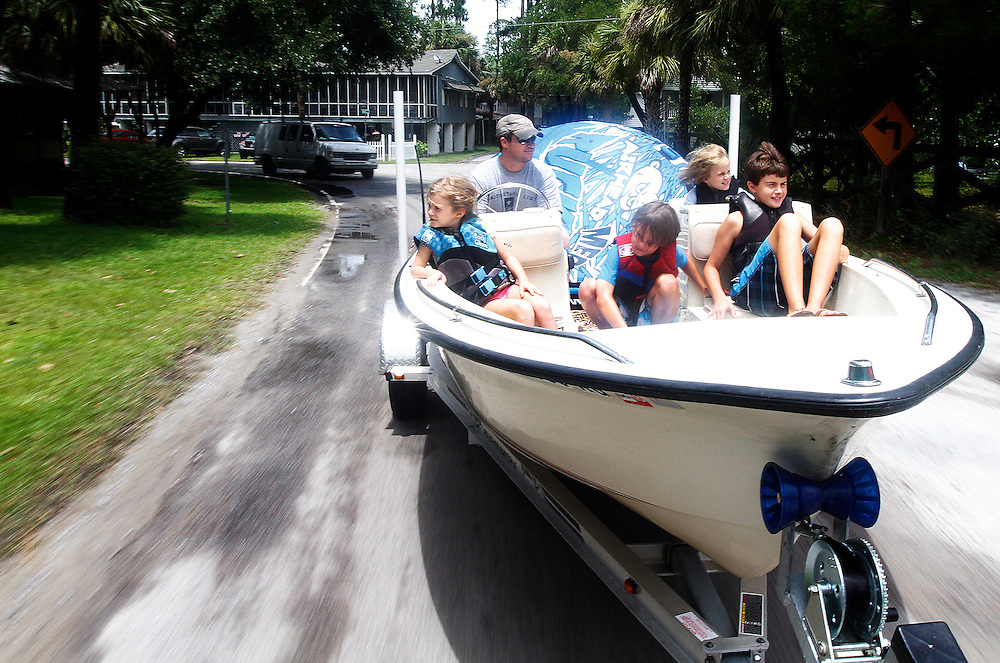 Heading to the Alljoy Boat Landing on the May River in Bluffton, South Carolina, 2014.