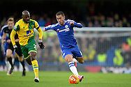Eden Hazard of Chelsea running with the ball. Barclays Premier league match, Chelsea v Norwich city at Stamford Bridge in London on Saturday 21st November 2015.<br /> pic by John Patrick Fletcher, Andrew Orchard sports photography.
