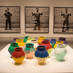 Colored Vases, an installation in Ai Weiwei's exhibit, According to What? is featured in the Hirshhorn Museum through February 24, 2013.