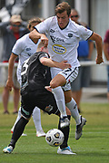 Auckland City FC's Andrew Blake in action in the Handa Premiership football match, Hawke's Bay United v Auckland City FC, Bluewater Stadium, Napier, Sunday, January 31, 2021. Copyright photo: Kerry Marshall / www.photosport.nz