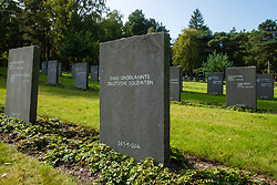 """The graves of """"Two unknown German Soldiers"""" from the second worldwar in the German Military Cemetery at Cannock Chase in Staffordshire which contains almost 5000 burials from both the first and second world wars of German and Austrian nationals and a small number of Ukrainians<br /> <br /> 17 September 2020<br /> <br /> www.pauldaviddrabble.co.uk<br /> All Images Copyright Paul David Drabble - <br /> All rights Reserved - <br /> Moral Rights Asserted -"""