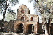 Africa, Ethiopia, Gondar, The entrance gate to the Church of Debre Birhan Selassie