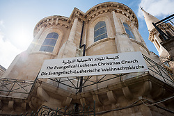 1 March 2020, Bethlehem: The Evangelical Lutheran Christmas Church in Bethlehem.