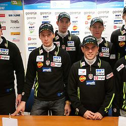 20111227: SLO, Nordic Ski - Slovenian Ski Jumping men team at press conference