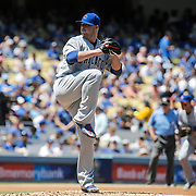 Aug 28 2016 - Los Angeles U.S. CA - Chicago Cubs P# 34 Jon Lester up on the mound during MLB game between LA Dodgers and the Chicago Cubs 1-0 lost at Dodgers Stadium Los Angeles Calif. Thurman James / CSM