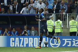 Paul Pogba of France during the 2018 FIFA World Cup Russia Final match between France and Croatia at the Luzhniki Stadium on July 15, 2018 in Moscow, Russia