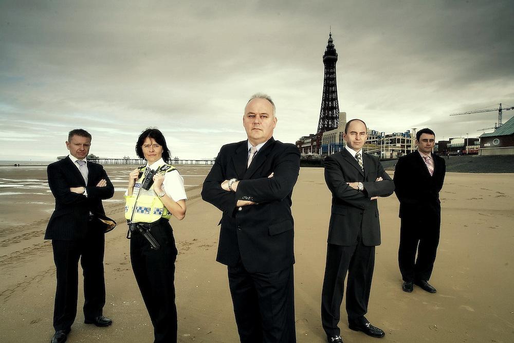 Blackpool CID Team for 'The Sharp End'