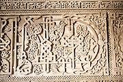 Elaborate Islamic stonework decoration, Alcazar, Seville, Spain