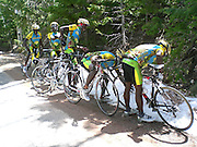 Team Rwanda Sees Snow For First Time Eve<br /> <br /> During a race in Moab, Utah, members of Team Rwanda Cycling stop to touch some snow as it was the team's first time ever seeing it! the photo perfectly captures a moment they will never forget.<br /> According to some members of the team they put snow in their pockets trying to take it with them!<br /> ©Team Rwanda Cycling/Exclusivepix Media