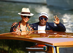 August 30, 2018 - Venice, Italy - Spike Lee and his wife Tonya Lewis Lee is seen during the 75th Venice Film Festival, in Venice, Italy, on August 30, 2018. (Credit Image: © Matteo Chinellato/NurPhoto/ZUMA Press)
