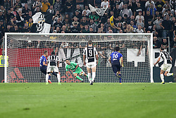 October 14, 2017 - Turin, Piedmont, Italy - Ciro IMMOBILE (SS Lazio) kicks the penalty of the second goal for SS Lazio during the Serie A football match between Juventus FC and SS Lazio at Olympic Allianz Stadium on 14 October, 2017 in Turin, Italy. (Credit Image: © Massimiliano Ferraro/NurPhoto via ZUMA Press)