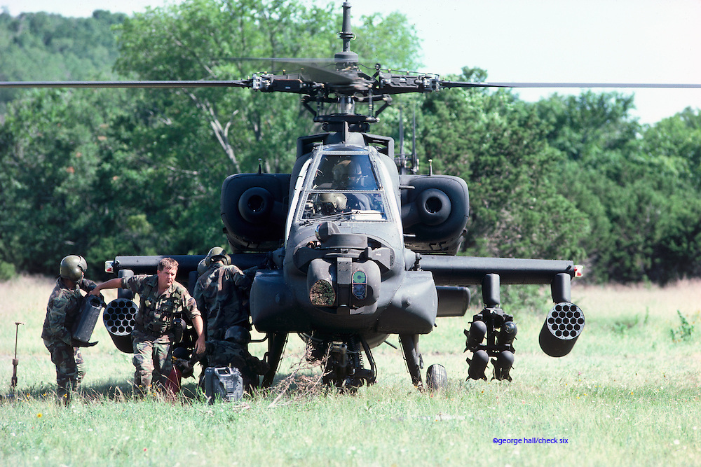 Field refuel of AH-64A Apache