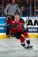 KELOWNA, BC - JANUARY 26: Milos Roman #40 of the Vancouver Giants warms up against the Kelowna Rockets at Prospera Place on January 26, 2019 in Kelowna, Canada. (Photo by Marissa Baecker/Getty Images)