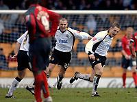 Photo: Glyn Thomas.<br />Port Vale v Swansea City. Coca Cola League 1. 08/04/2006.<br />Port Vale's Michael Cummins (R) celebrates scoring his side's second goal.