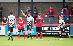 Inverness Caledonian Thistle's Brad McKay (22) cele scoring their second goal. Half time : Brechin City 0 v 2 Inverness Caledonian Thistle, Scottish Championship game played 26/8/2017 at Brechin City's home ground Glebe Park.