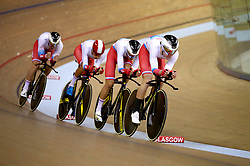 Russia Men Team Pursuit led by Ivan Smirnov during day one of the 2018 European Championships at the Sir Chris Hoy Velodrome, Glasgow. PRESS ASSOCIATION Photo. Picture date: Thursday August 2, 2018. See PA story SPORT European. Photo credit should read: John Walton/PA Wire. RESTRICTIONS: Editorial use only, no commercial use without prior permissionduring day one of the 2018 European Championships at the Sir Chris Hoy Velodrome, Glasgow. PRESS ASSOCIATION Photo. Picture date: Thursday August 2, 2018. See PA story SPORT European. Photo credit should read: John Walton/PA Wire. RESTRICTIONS: Editorial use only, no commercial use without prior permission