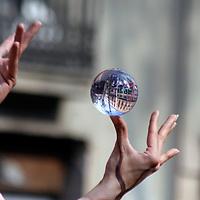 Europe, Spain, Barcelona. Hands of Las Ramblas, Barcelona.