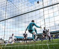 Falkirk's keeper Michael McGovern saves.<br /> Raith Rovers 2 v 4 Falkirk, Scottish Championship game today at Starks Park.<br /> © Michael Schofield.