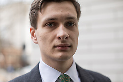 © Licensed to London News Pictures . 31/03/2017 . SAMUEL ARMSTRONG (currently suspended Chief of Staff to South Thanet MP Craig Mackinlay) arrives at Westminster Magistrates Court . Armstrong is charged with two counts of rape and one of sexual assault by penetration in the Houses of Parliament in October 2016 . Photo credit: Joel Goodman/LNP