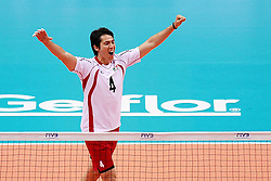 07.09.2014, Ergo Arena, Danzig, POL, FIVB WM, Ägypten vs Mexico, Gruppe C, im Bild GUSTAVO MEYER // during the FIVB Volleyball Men's World Championships Pool C Match beween Egypt and Mexico at the Ergo Arena in Danzig, Poland on 2014/09/07. <br /> <br /> ***NETHERLANDS ONLY***