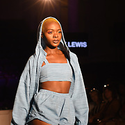 Designer Abby Lewis showcases its latest collection at the Africa Fashion Week London (AFWL) at Freemasons' Hall on 11 August 2018, London, UK.