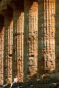ITALY, GREEK CULTURE, Paestum; Doric Temple of Neptune