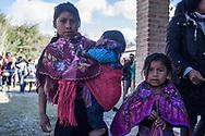 Giovani Chamula, indigene delle alture del Chiapas, partecipano al CNI