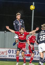 Falkirk's Lee Miller over Ayr United's Conrad Balatoni. Falkirk 1 v 1 Ayr United, Scottish Championship game played 14/1/2017at The Falkirk Stadium .